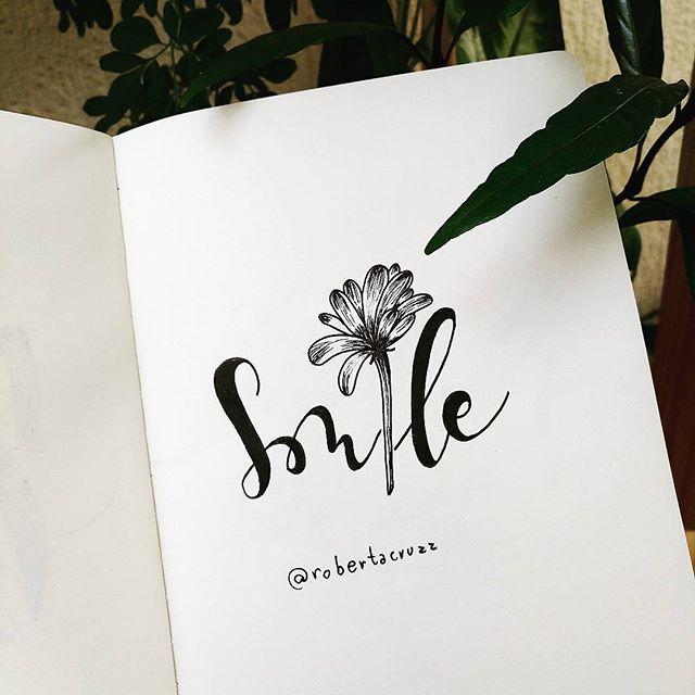 ilustração smile da artista @robertacruzz