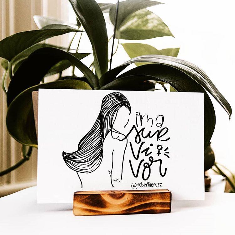 lettering e ilustração survivor da artista @robertacruzz